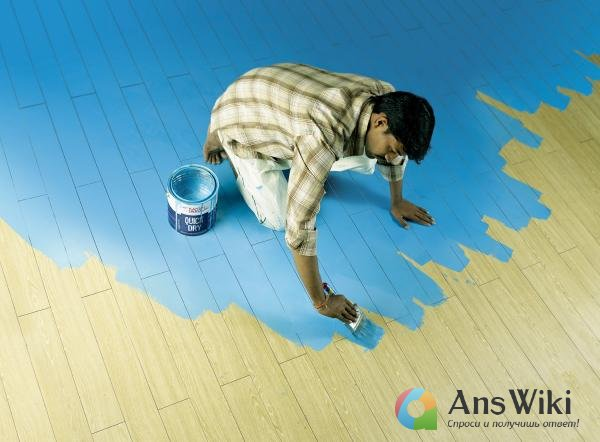 Чем мыть пол после покраски?
