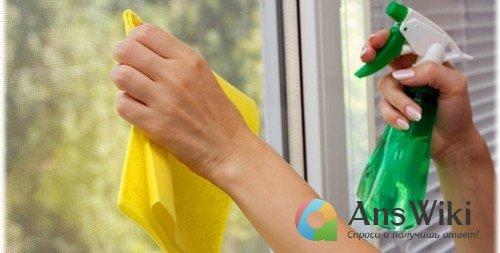 Как отмыть брызги цемента с окон?